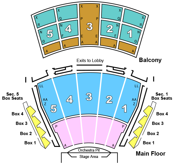 Seating chart arie crown theater